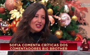 Após sair do Big Brother, Sofia lança farpas a Cristina Ferreira
