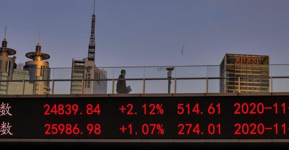 Bolsa de Xangai encerra a cair 0,81%