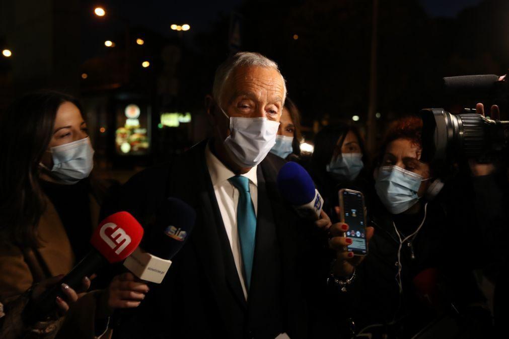 Presidenciais: Quem avança para esta eleição é exatamente o mesmo de há cinco anos -- Marcelo