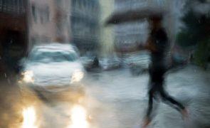 Seis distritos do continente sob aviso amarelo por causa da chuva
