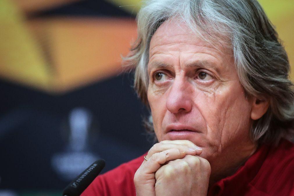 LE: Jorge Jesus assume que Benfica ainda não está a jogar o triplo como prometeu