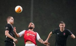 Sporting de Braga vence Zorya, mas falha primeiro lugar no grupo D da Liga Europa