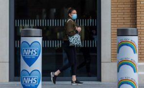 Covid-19: Reino Unido regista redução de mortes pelo terceiro dia