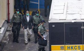 Hong Kong: Magnata dos 'media' viu negada fiança após conhecer acusação judicial
