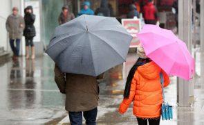 Mau tempo: Viseu, Aveiro e Coimbra sob aviso laranja devido à chuva forte