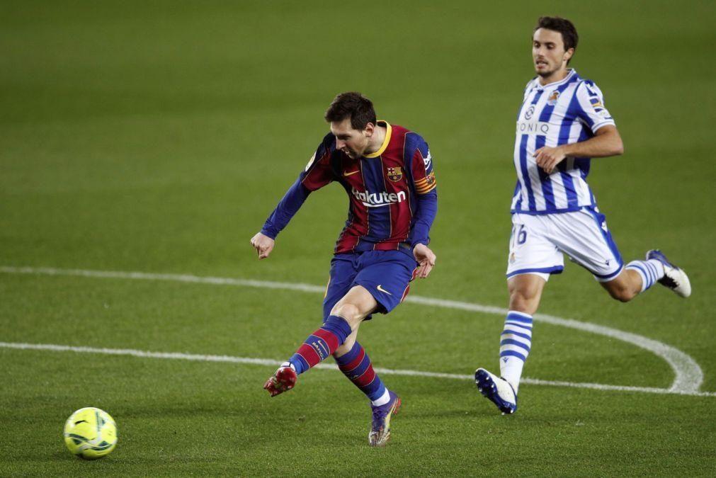 FC Barcelona bate Real Sociedad e aproxima-se do pelotão da frente da La Liga