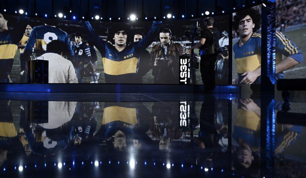 The Best: Diego Maradona e Paolo Rossi homenageados durante entrega de prémios