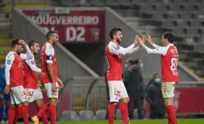Sporting de Braga vence Estoril e fecha apurados para 'final-four' da Taça da Liga