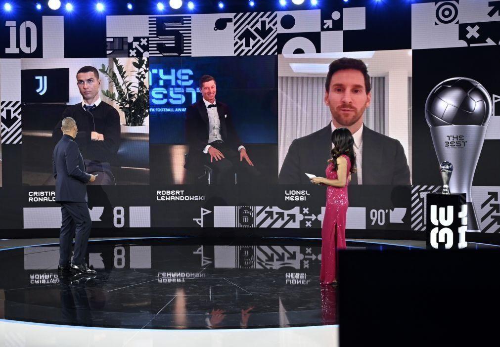 The Best: Ronaldo foi segundo e votou em Lewandowski e Messi
