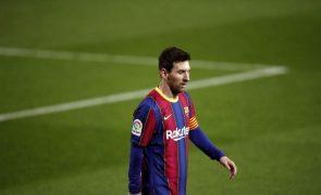 Futebolista argentino Lionel Messi recebe prémio 'Paz e Desporto' de 2020