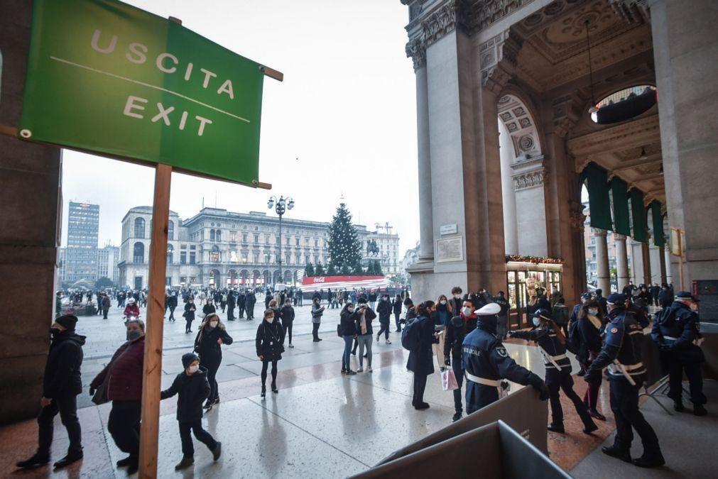 Covid-19: Itália decreta confinamento quase total em todo o país durante as festividades
