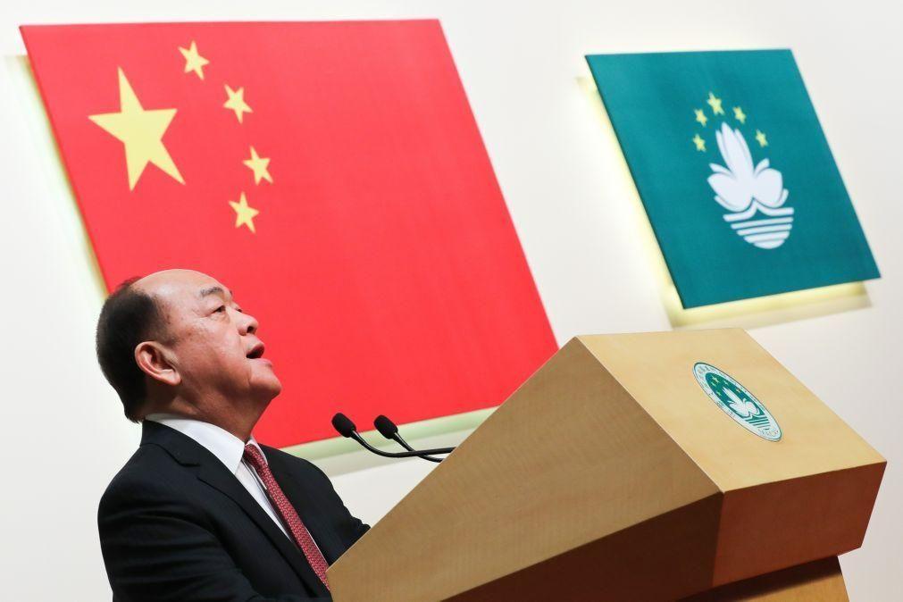 Macau promete reforçar em 2021 defesa da soberania chinesa e luta contra forças externas