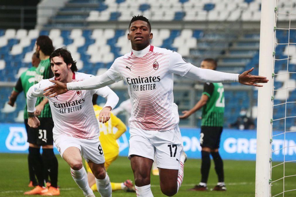 Avançado português Rafael Leão marca golo mais rápido de sempre da Serie A