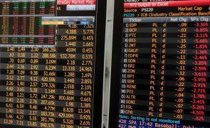 PSI20 cai 2,19% em linha com as principais bolsas europeias