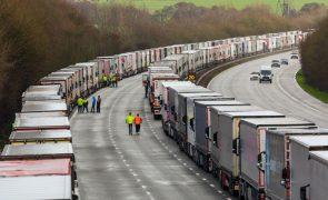 Covid-19: Antram estima perdas superiores a 3 ME com motoristas retidos no Reino Unido