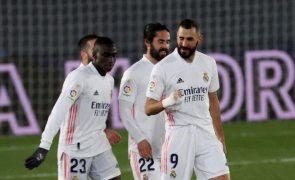 Real Madrid ganha para a Liga e 'encosta-se' ao Atlético