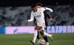 Real Madrid confirma lesão muscular do avançado Rodrygo