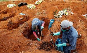 Covid-19: Brasil contabiliza mais 307 mortes e 17.246 infeções em 24 horas