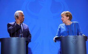 UE/Presidência: Merkel deseja sucesso a Costa e assegura apoio a Portugal