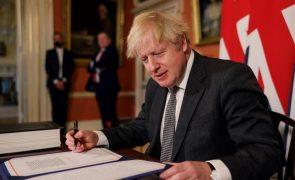 Brexit: Boris Johnson perspetiva um Reino Unido