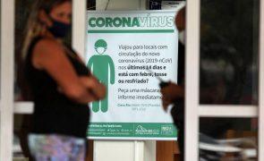 Covid-19: Brasil com mais 56.773 novos casos e 1.074 mortes em 24 horas