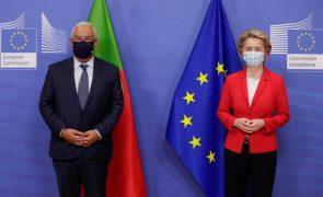 UE/Presidência: Von der Leyen quer trabalhar com Portugal para a recuperação da Europa
