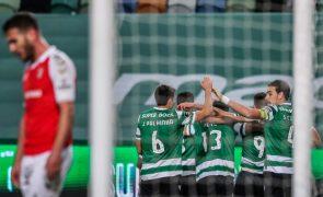 Sporting vence Sporting de Braga no primeiro jogo de 2021 e reforça liderança da I Liga