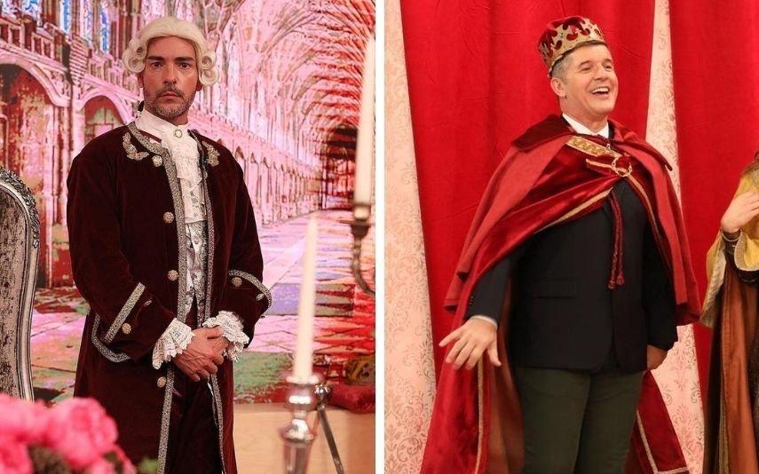 Cláudio Ramos e João Baião vestem-se de 'igual' e fãs não perdoam