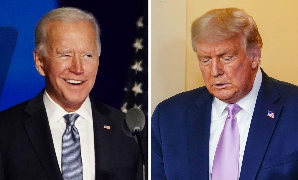 EUA/Eleições: Biden congratula-se pela ausência de Trump da sua tomada de posse