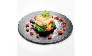 Receita Bacalhau da Noruega Escalfado sobre migas de grão e legumes de Outono