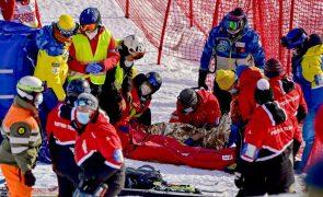 Tommy Ford hospitalizado após queda aparatosa em Taça do Mundo de esqui na Suíça