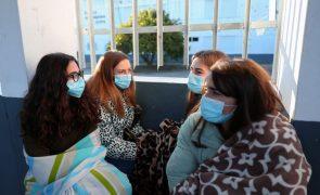 Covid-19: Alunos de Serpa protestam contra frio nas aulas, agravado por pandemia