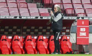 Jorge Jesus com suspeita de infeção respiratória. Benfica cancela conferência de imprensa