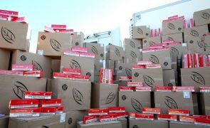 Apreendidos 370 milhões de cigarros destinados à venda ilegal na UE em 2020