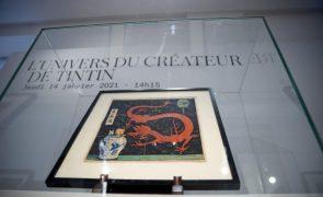 Leilão de desenho de Hergé para BD de Tintin atinge recorde de 2,6ME