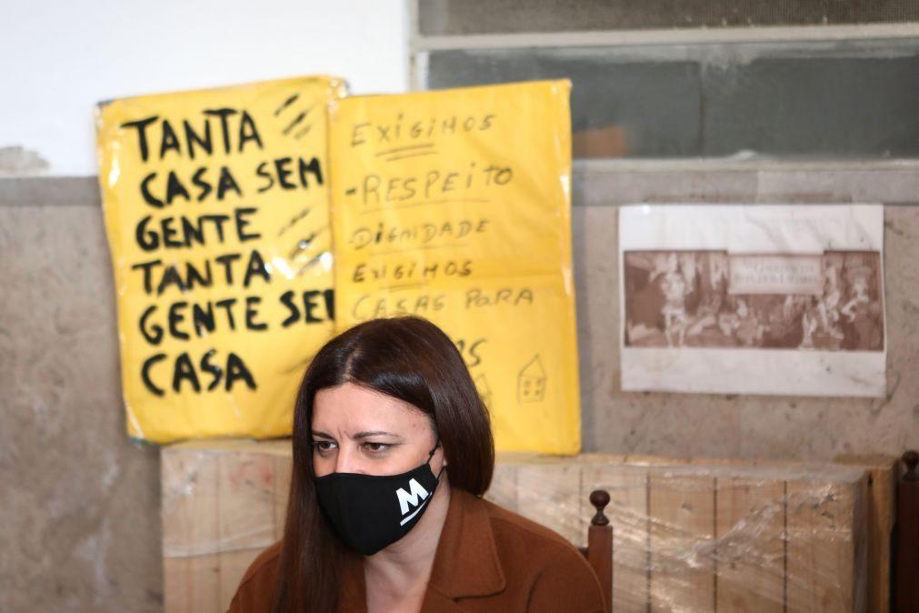 Presidenciais: Marisa Matias lembra que nem todos têm condições para confinar e aponta à habitação