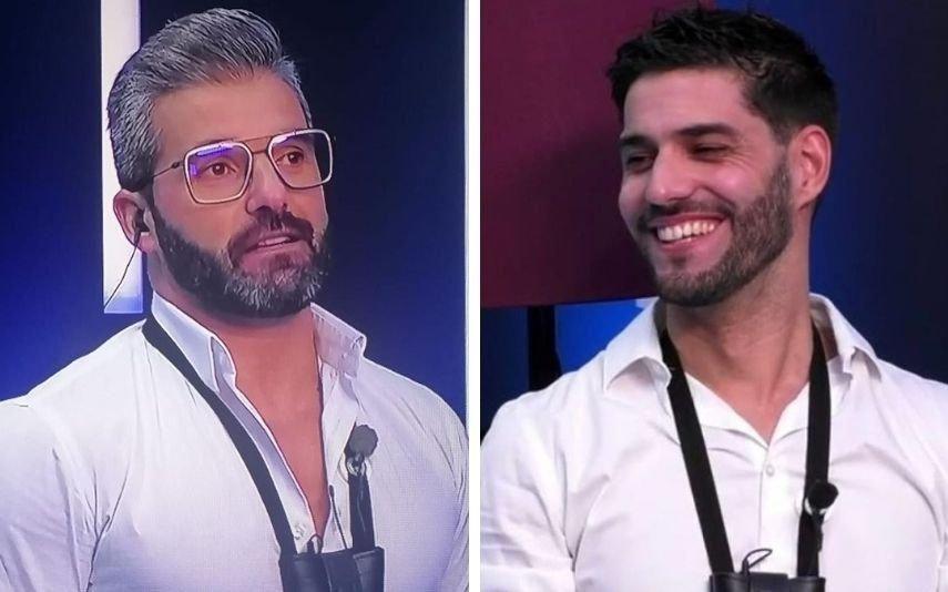 Big Brother Hélder e Gonçalo Quinaz beijam-se na boca e levam colegas ao delírio