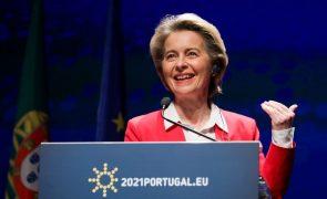 Covid-19: UE receberá doses contratualizadas com o Pfizer até ao final de março - Von der Leyen