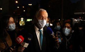 Covid-19: Marcelo admite que período de confinamento dure até março