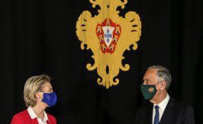 UE/Presidência: von der Leyen espera muito da presidência portuguesa