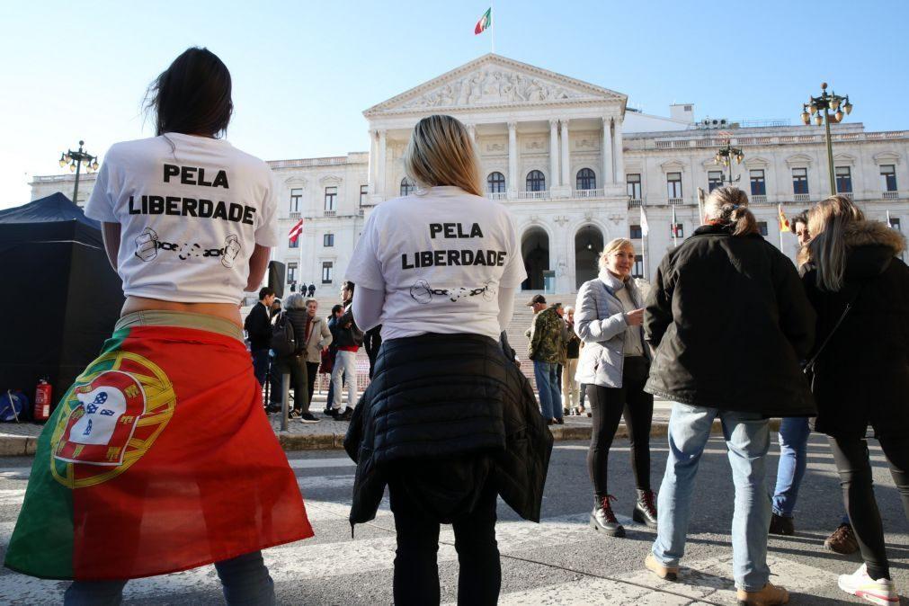 Covid-19: Cerca de 100 pessoas manifestaram-se sem máscara ou distanciamento em Lisboa