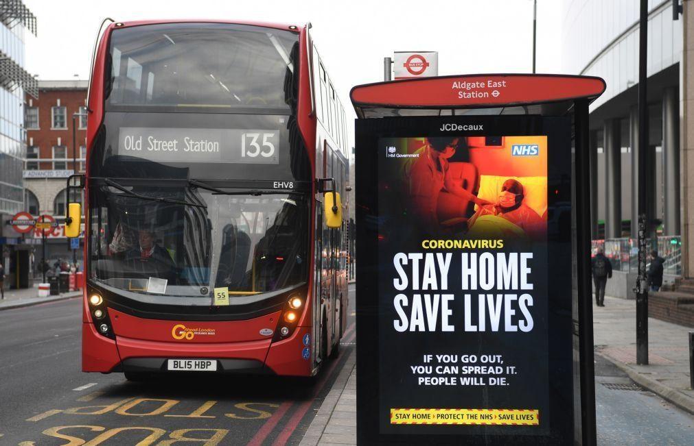 Covid-19: Reino Unido regista 1.295 mortes e 41.346 novos contágios