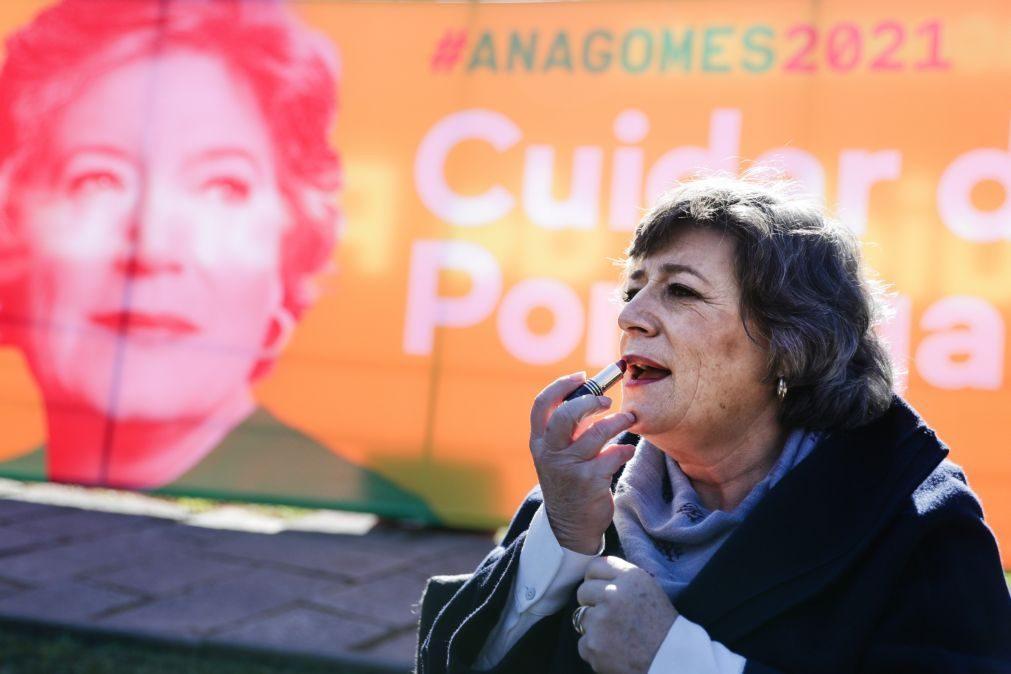 Presidenciais: Ana Gomes elogia poder local no voto antecipado e agradece apoio de Rui Pinto