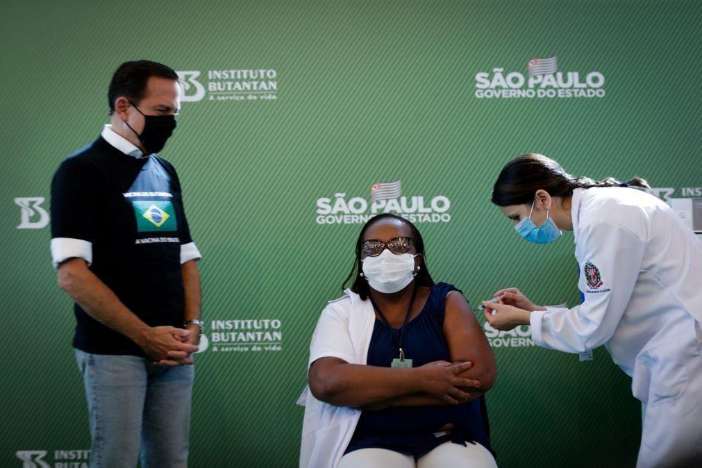 Covid-19: Brasil regista 551 mortes em 24 horas e aproxima-se das 210 mil