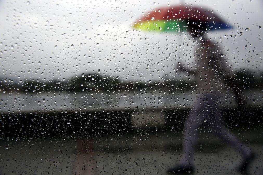 Menos frio mas muita chuva. Todos os distritos do continente sob aviso amarelo na quarta-feira