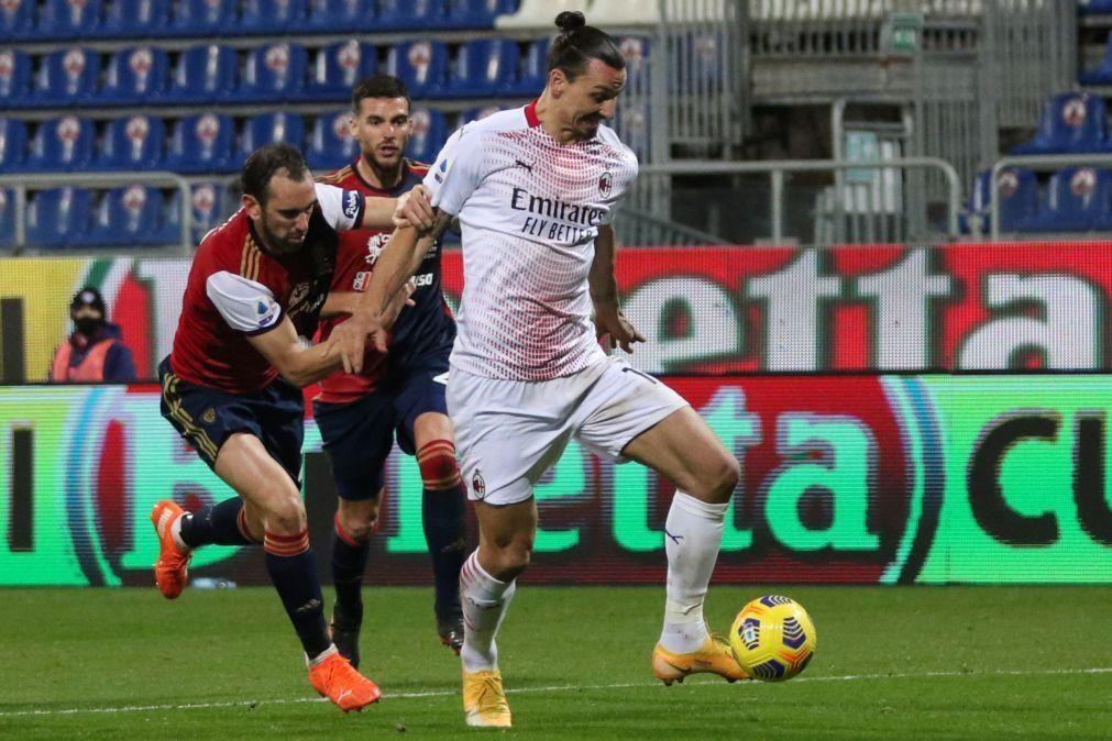 Ibrahimovic regressa com quinto 'bis' e dá triunfo ao Milan na Sardenha