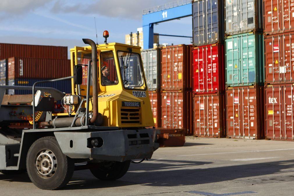 Mercadorias nos portos caíram 6,4% até novembro para 75 milhões de toneladas