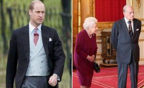 Príncipe William Orgulhoso dos avós por darem exemplo importante em plena pandemia