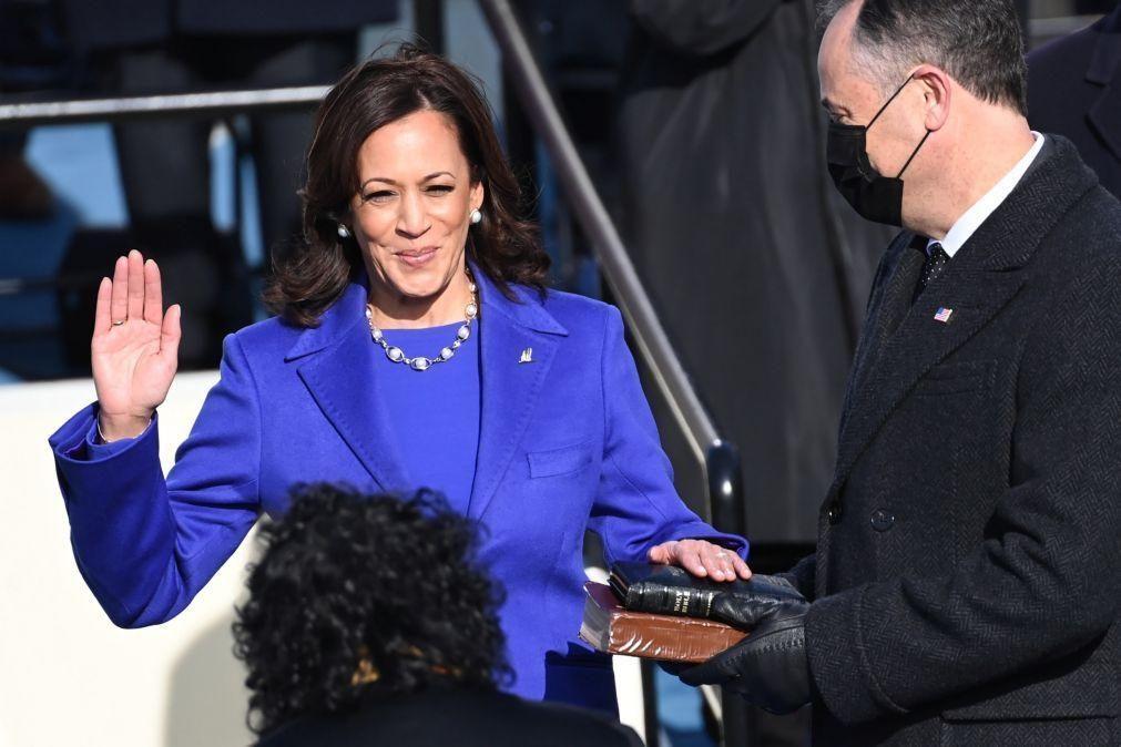 Kamala Harris tornou-se hoje a primeira mulher vice-Presidente dos EUA