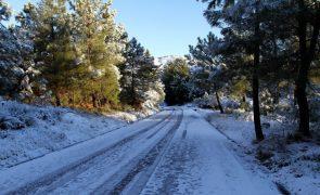 Estradas na Serra na Estrela foram reabertas hoje
